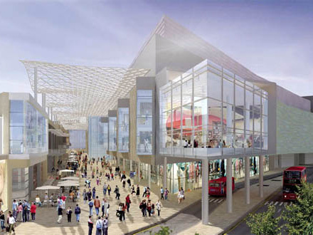 Building concept drawing White City London